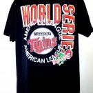 Vintage 1991 Minnesota TWINS American League World Series T-Shirt Size Large