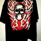 NEW BLACK 2XL XXL T SHIRT SKULL BONES SKELETON NWT