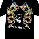 Thailand T-Shirt Dragons Size Large