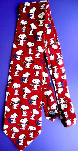 Mens Novelty SNOOPY/ Peanuts Tie 100% Silk  PS I LOVE YOU