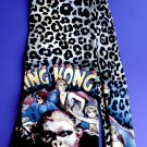 Vintage 1992 King Kong Leopard Novelty 100% Men's Silk Neck Tie