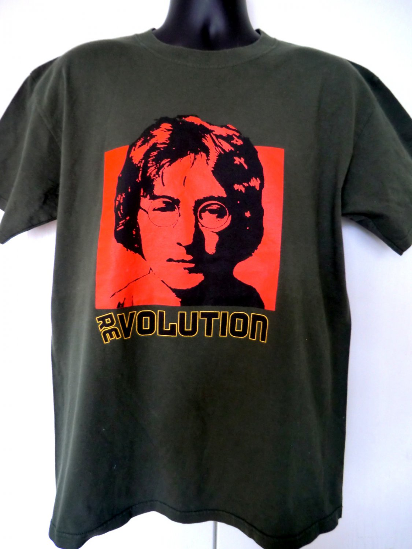 REVOLUTION Large T-Shirt ~ John Lennon  EVOLUTION