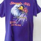 Ladies' Large Purple T-Shirt from Sturgis 2003 Bike Week