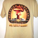 Afghanistan WEATHER FORCAST 32,000 Degrees Partly Cloudy T-Shirt Size Medium