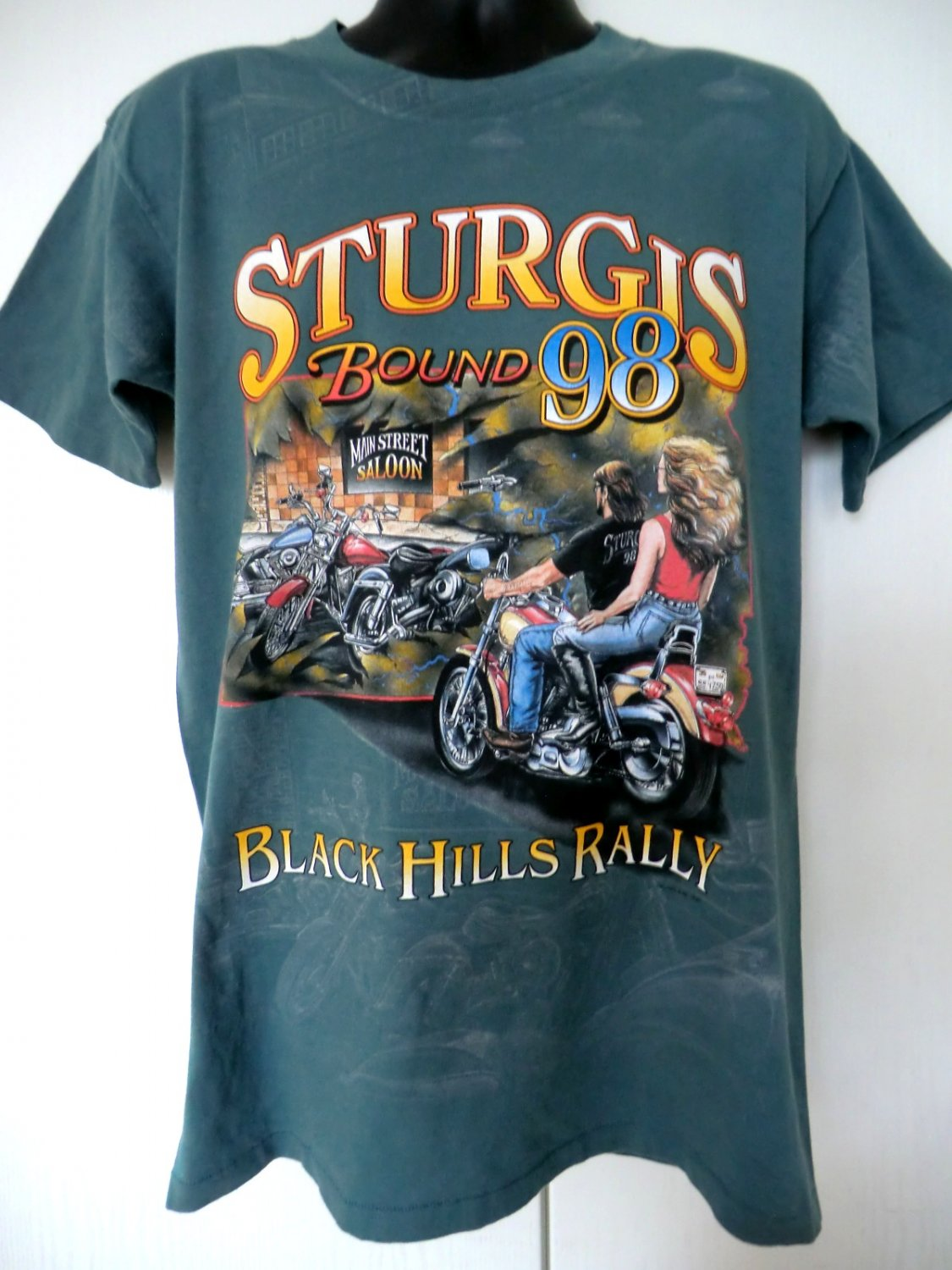Cool Vintage Sturgis Rally 1998 T Shirt Size Large