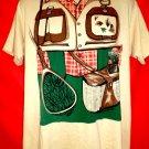 Vintage 1980 Fishing Vest T-Shirt Size Large