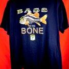 NEW! BASS to the BONE T-Shirt Size XL Fishing
