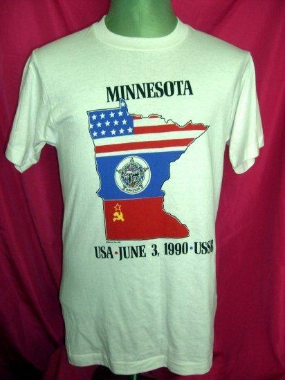 Rare Vintage 1990 Minnesota USSR (Russia) T-Shirt Size Medium