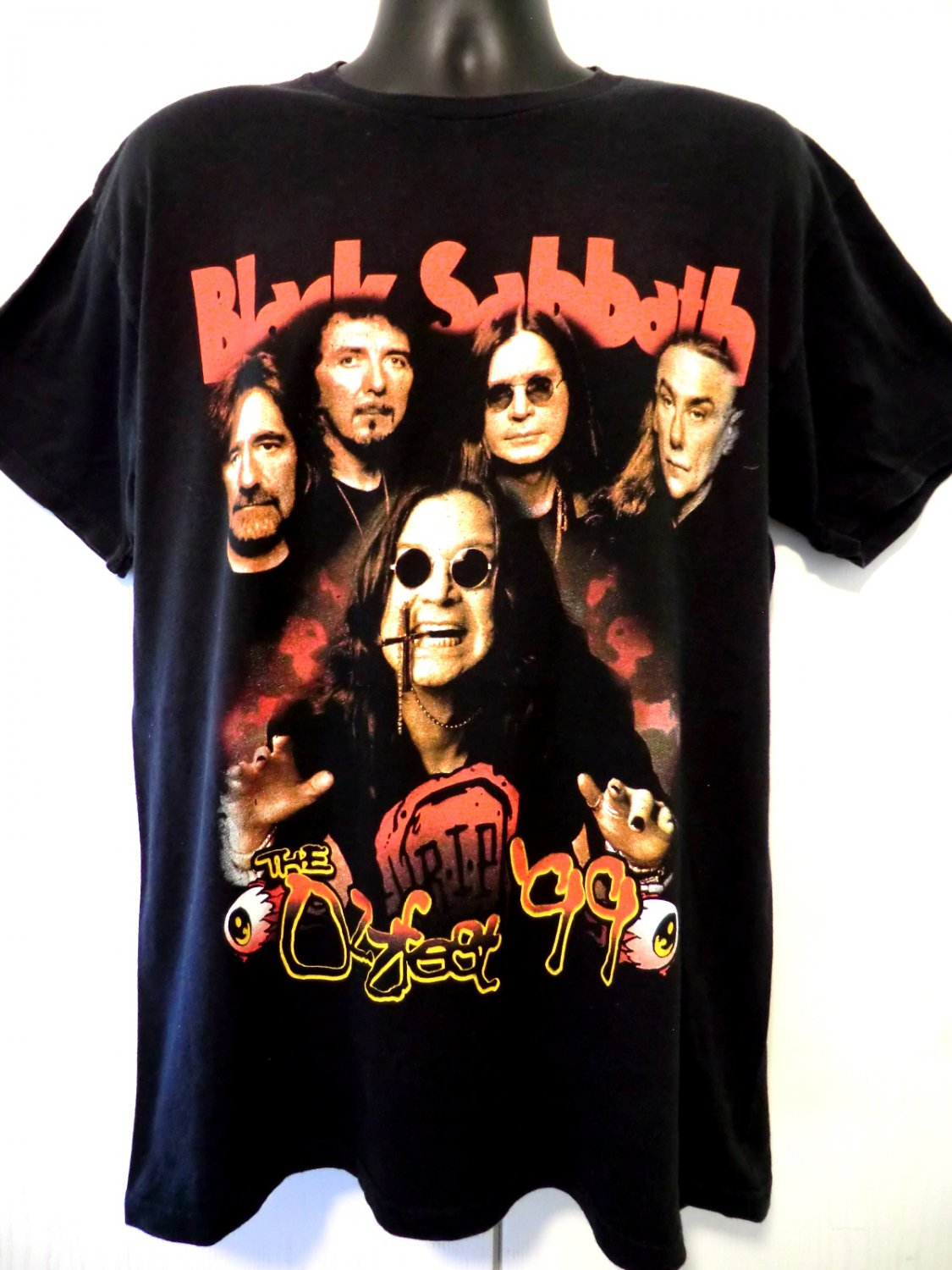 SOLD! Ozzfest 1999 T-Shirt Size Large Black Sabbath