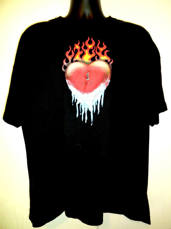 Heart Hot Cold T-Shirt Size XXXL 3XL