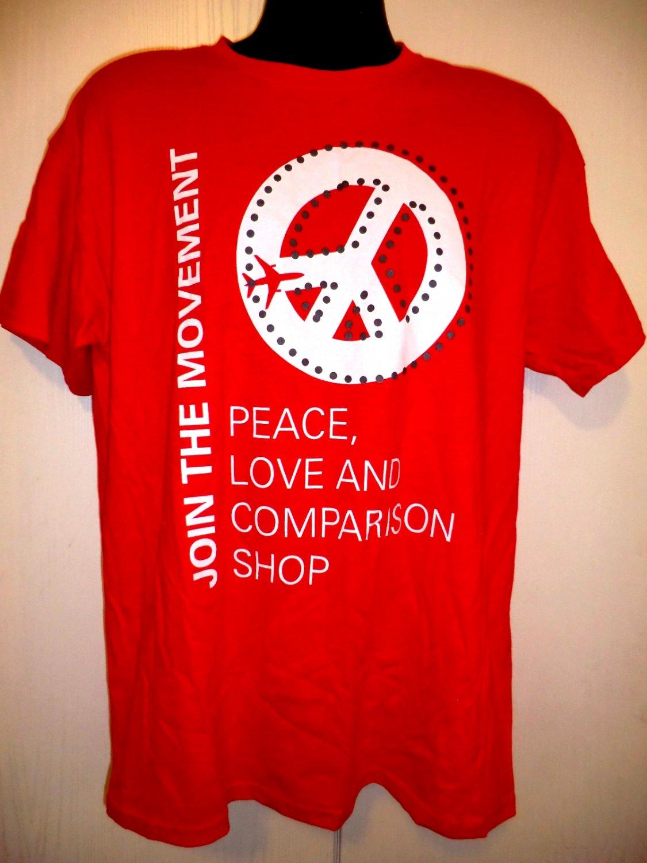 Join the Movement T-Shirt Peace Love Comparison Shop ~ Size Large