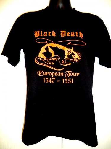 SOLD! Funny Black Death European Tour T-Shirt Size Medium