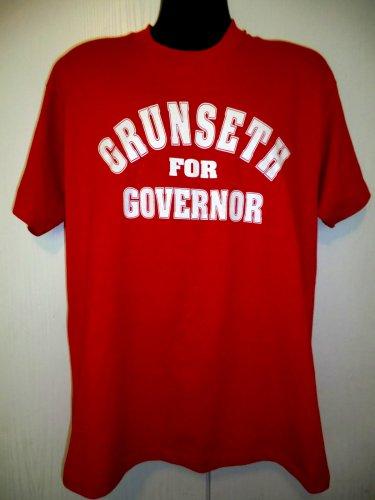 Vintage 1990 GRUNSETH for GOVERNOR T-Shirt Size Large Minnesota Politics MN