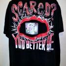 Vintage 1996 TAZ Warner Bros T-Shirt Size XL/XXL Scared?
