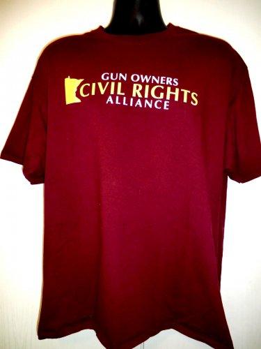 MN Gun Owners CIVIL RIGHTS Alliance T-Shirt Size XL Minnesota