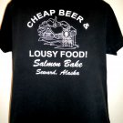 Cheap Beer Lousy Food T-Shirt Seward Alaska Size Large