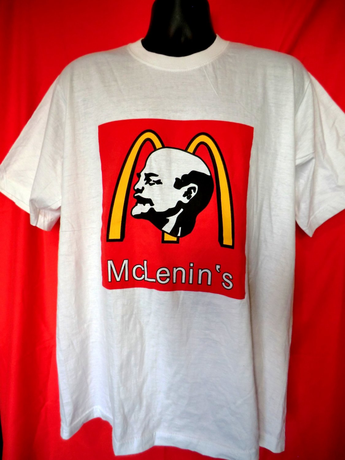 sold  funny russian lenin    mcdonalds t