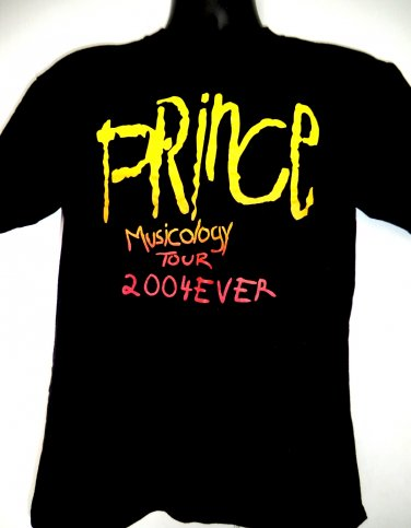 SOLD! The Artist PRINCE Musicology Tour 2004 T-Shirt Size Medium