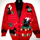 Ugly Holiday Sweater Scottie Terrier Dogs Size Medium