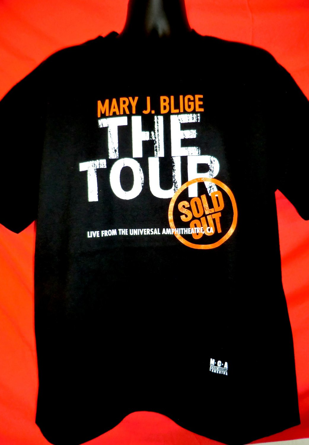Mary J BLIGE Concert Tour XL Black T-Shirt