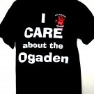 I Care About  the Ogaden Anti-Genocide Movement T-Shirt Size Large