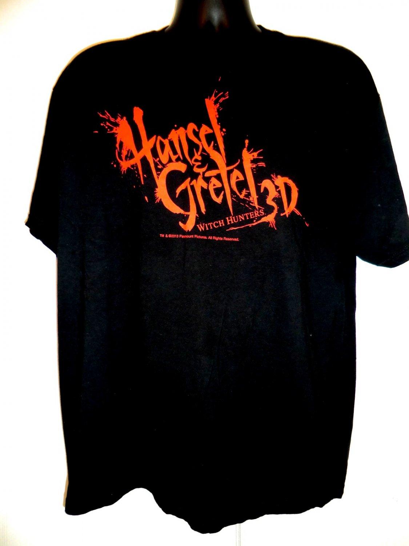 Promo Movie Souvenir Hansel & Gretel Witch Hunters 3D T-Shirt Size XL