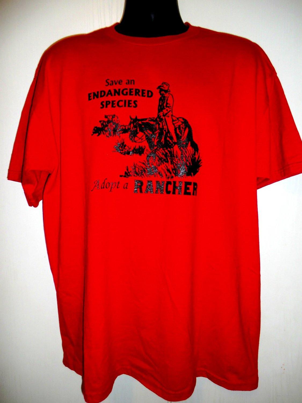 Save an Endangered Species Adopt a Rancher T-Shirt Size XL