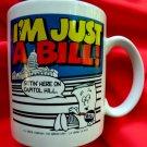 Vintage I'M JUST A BILL Sittin' Here on Capital Hill School House Rocks Ceramic Mug Vintage