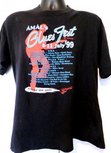 Amal�s Blues Fest July �99 T-Shirt Size Large USA Norway Sweden
