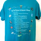Funny Top Ten Reasons To Become A Doctor T-Shirt Size Medium