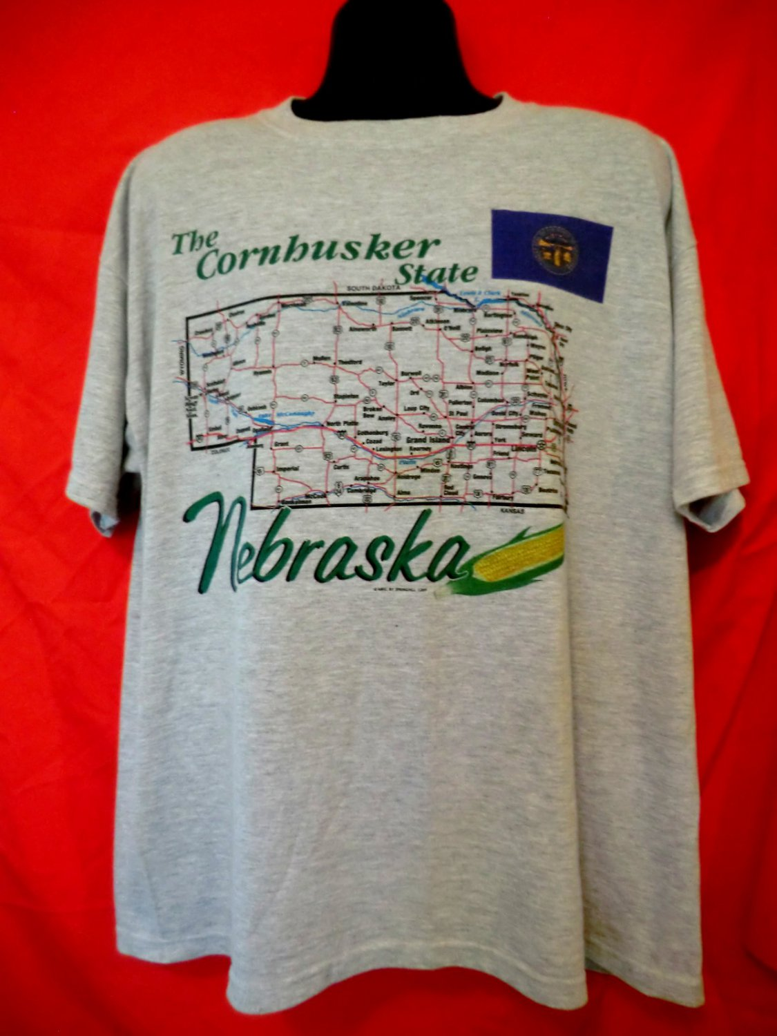 SOLD! The Cornhusker State NEBRASKA T-Shirt Size XXL
