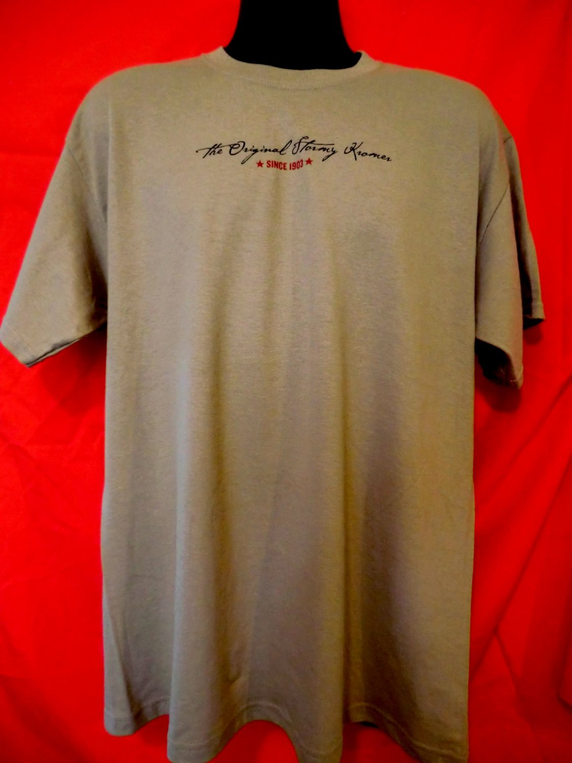 SOLD! Funny Stormy Kromer  T-Shirt Size Large NWT New!