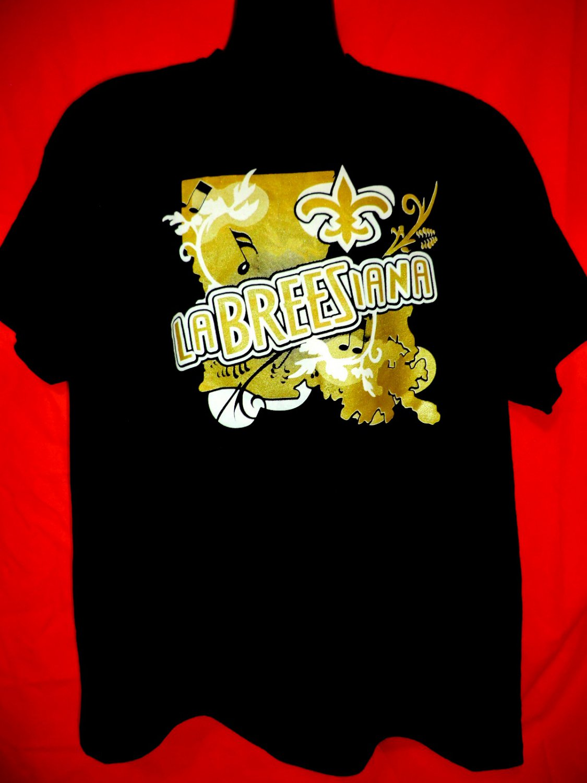 New Orleans Saints T-Shirt LaBreesiana Size XL Drew Brees