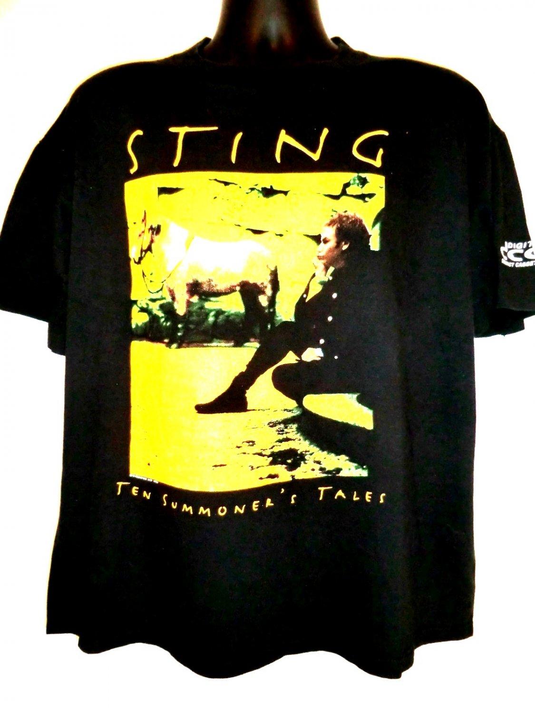 Vintage 1993 STING Tour T-Shirt Size XL Ten Summoner�s Tales World Tour
