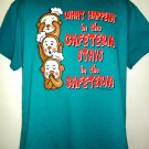 What happens in the Cafeteria Stays in the Cafeteria T-Shirt Size Large