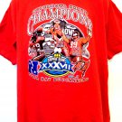 Tampa Bay Buccaneers Super Bowl Champions XXXVII Medium or Large Red T-Shirt