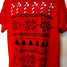 Ugly Red Christmas Sweater T-Shirt Size Large