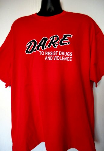 Rare RED DARE To Resist Drugs and Violence T-Shirt Size XXL