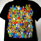 Rare The SIMPSONS T-Shirt The Cast of Springfield Characters Size XL