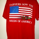 Vintage Farmers Sow The Seeds of America T-Shirt Size XL