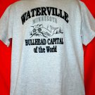 Funny Size Large T-Shirt WATERVILLE MN BULLHEAD Capital of the World