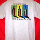 Funny WINE T-Shirt Size Large  Wine Gets Better With Age The Older I Get The More I Like It