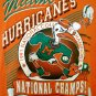 Vintage 1991 University of Miami Hurricanes T-Shirt Size XL