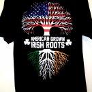 American Grown Irish Roots T-Shirt Size Large