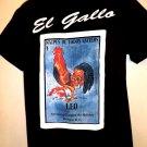 El Gallo Rooster Mexico T-Shirt Size Medium