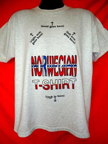 Funny Vintage NORWEGIAN T-Shirt Size Large