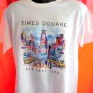 Vintage TIMES SQUARE White Medium T-Shirt Manhattan NY NYC New York City