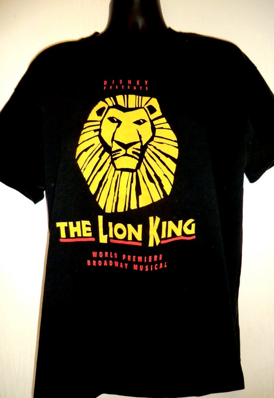 VINTAGE Disney's BROADWAY LION KING XL T SHIRT 1997 PREMIERE in Minneapolis