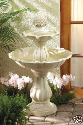 SALE ITEM!!  LOW COST - LOW SHIPPING!!!  Acorn Water Fountain - 3 tier - Indoor/Outdoor