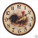 Rooster Clock for Kitchen - French Country Decor - BEAUTIFUL!!